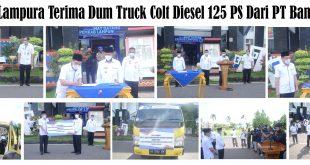 Plt.Bupati Lampura Terima Dum Truck Colt Diesel 125 PS Dari PT Bank Lampung