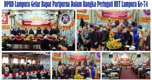 DPRD Lampura Gelar Rapat Paripurna Dalam Rangka Peringati HUT Lampura Ke-74