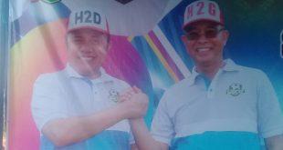 Bupati H2G Dampingi Gubernur H2D Letakkan Batu Pertama Pembangunan Tribun Stadion Sepak Bola Kabupaten Musi Rawas.