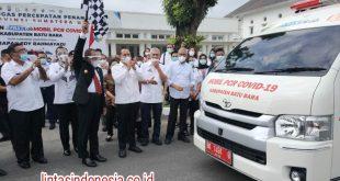 Gubernur Sumut, Pelepasan Mobil PCR Covid-19 Kab Batu Bara