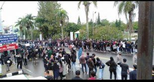Menolak UU Omnibuslaw, Koalisi Masyarakat Sipil Babel Bersatu Melakukan Aksi Damai
