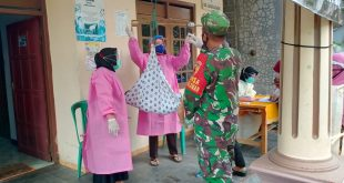 Babinsa Koramil 0808/06 Srengat Memantau Posyandu Balita Di Masa Pandemi Covid-19