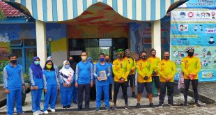 Cegah Covid-19 Polres Bangka Barat Laksanakan Kegiatan Pembagian Masker Di SLB Mentok