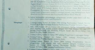Tahunan Sudah Mati Izin, Baru Sekarang PT. PMKS GSS Urus Kembali IPPBBM