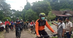 Pjs Bupati OKU Adventure Bersama Komonitas Sepeda Promosikan Objek Wisata