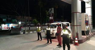 Personel Satlantas Polres Bangka Laksanakan Patroli Biru.