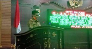 DPRD Nunukan Menggelar Rapat Paripurna Ke-10,Masa Sidang 1 Tahun 2020-2021