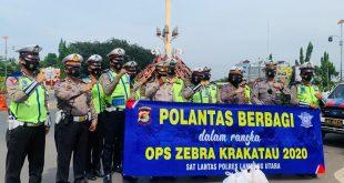 """Satuan Polisi Lalu Lantas (Satlantas) Polres Lampung Utara """"BERBAGI"""""""