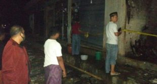 Diduga Konsleting Listrik, Toko Onderdil Ranmor Roda Dua Milik Saleh Terbakar