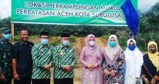 Nyonya Dyah Erti Idawati Nova Iriyansah Resmikan Perkampungan Muallaf Kota Subulussalam