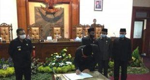 Pemkab Tulungagung Menggelar Rapat Paripurna APBD Tahun 2021 Di Jadikan Perda