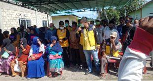 Tim Relawan Emak  Emak kecamatan Moro Siap  menangkan Paslon ARAH no.1 pada 9 Desember 2020.mendatang