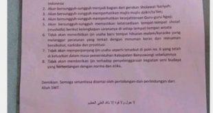 BEREDAR KONTRAK POLITIK PASLON 01 YURIS & ULAMA DI BANYUWANGI, PRESIDEN LBH NUSANTARA MINTA PASELOM YURIZ MUNDUR POLITIK 1