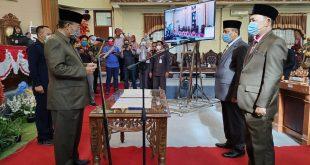 PAW Faisal Reza Dan Fahrul Alamsyah Resmi Menjadi Anggota DPRD Lamtim