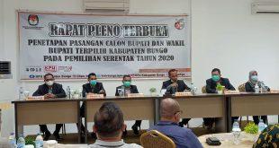 Rapat pleno KPUD kab bungo,umumkan Bupati dan wakil Bupati terpilih.