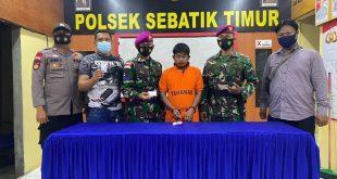Polsek Sebatik Timur Bersama Anggota Satgas Marinir,Menangkap Pemilik Narkotika Jenis Sabu