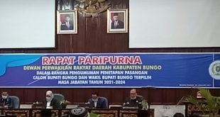 Paripurna Dprd kab Bungo.Penatapan Bupati dan wakil Bupati terpilih.
