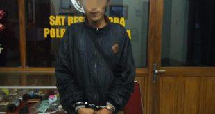 Edarkan Ribuan Pil Dobel L Pemuda Pria Dusun Bagbadan /Desa Ngebrak Kecamatan Gampengrejo Diringkus Polisi