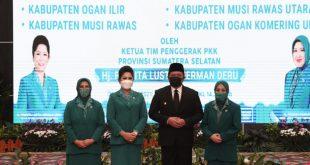 Hj. Badiar Dewi Istri Bupati OKU Terpilih, Dikukuhkan Sebagai Ketua PKK Kabupaten OKU