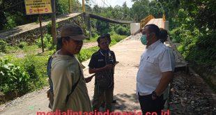 Terkait Oprit Jembatan Desa Negeri Ratu Rusak, Ini Penjelasan PPTK PU BM Provinsi