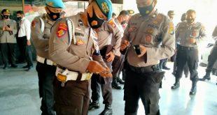 Propam Polres Bangka Lakukan Pemeriksaan Kelengkapan Personil