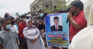 Aksi Demo Warga Dusun Rantau Pandan Minta Agar PT KBPC Angkat Kaki