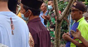 Koptu Bambang Hermanto Babinsa Koramil 0809/04 Ngasem Takjiah Kerumah Duka