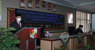 Budi Utomo Lantik 3 Pejabat Pimpinan Tinggi Pratama di Aula Siger