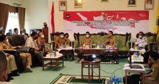 Gelar Rapat Bersama OPD, Bupati Lingga Bahas Penanganan Covid-19.