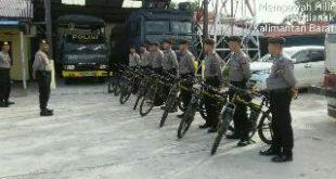 Patroli di objek vital,Polres mempawah pergunakan sepeda