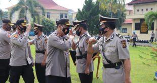 Tiga Pejabat Utama (PJU) Dan Satu Mantan PJU Polres Lubuk Linggaun Begeser ke Polres Musi Rawas.