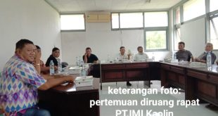 Pihak Perusahaan Adakan Pertemuan,  Paparan Dan Diskusi Kajian Reklamasi Lahan Bekas Tambang PT. IMI Kaolin